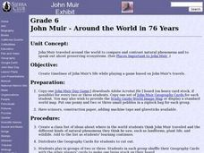 John Muir - Around the World in 76 Years Lesson Plan