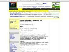 Johnny Appleseed Theme Unit: Day 1 Lesson Plan