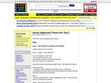 Johnny Appleseed Theme Unit: Day 2 Lesson Plan