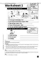 Join the Parade Worksheet 1 - Level 2 Worksheet