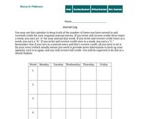 Journal Log Printables & Template