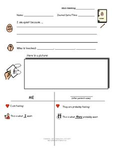 Journal Template Worksheet