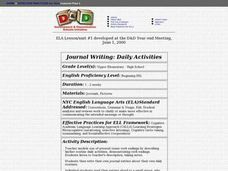 Journal Writing: Daily Activities Lesson Plan