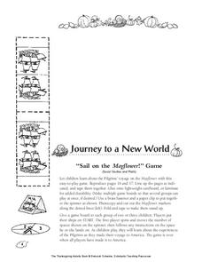 Journey to a New World: Sail on the Mayflower Game Printables & Template