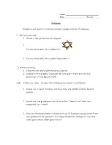 judaism 6th 8th grade worksheet lesson planet. Black Bedroom Furniture Sets. Home Design Ideas