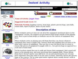 Juggle Time Lesson Plan