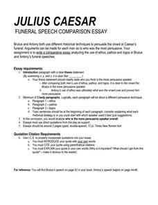 Newspaper Article Assignment Julius Caesar Essay Sample