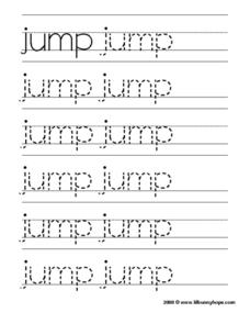 Jump Tracing Practice Worksheet