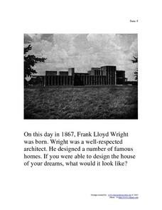 June 8, 1867 - Frank Lloyd Wright Worksheet
