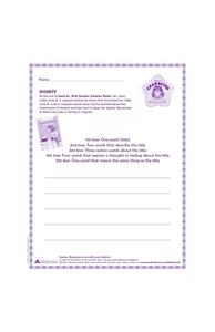 Junie B. Character Building Cinquain Writing - Dignity Worksheet