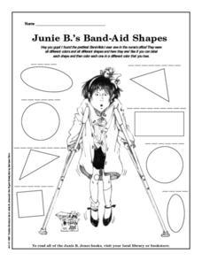 Junie B.'s Band-Sid Shapes Worksheet