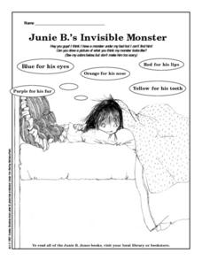 Junie B.'s Invisible Monster Worksheet