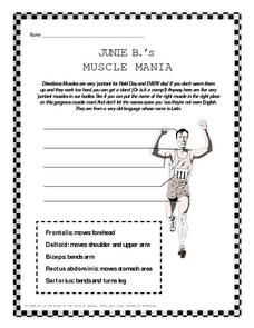 Junie B.'s Muscle Mania Worksheet