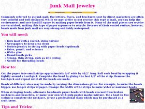 Junk Mail Jewelry Lesson Plan