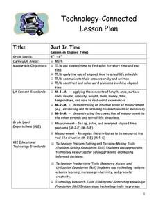 Just In Time Lesson Plan