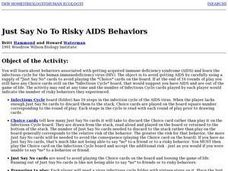 Just Say No To Risky Aids Behaviors Lesson Plan