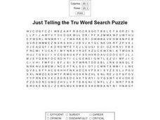 Just Telling the Truth Word Search Worksheet