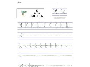 K Is For Kitchen Worksheet