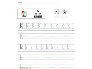 K Is For Knee Worksheet