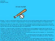 /K/rash the Ball! Lesson Plan