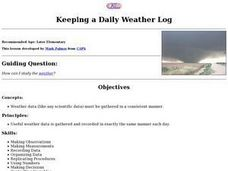 Keeping a Daily Weather Log Lesson Plan