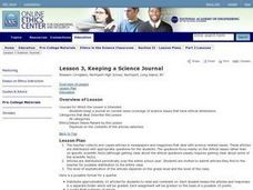 Keeping a Science Journal Lesson Plan