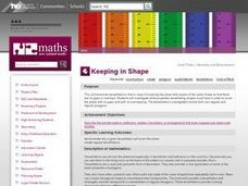 Keeping in Shape Lesson Plan