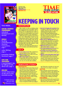 Keeping in Touch Lesson Plan