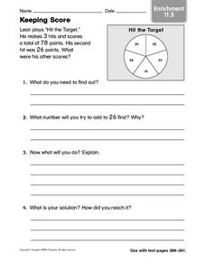 Keeping Score: Enrichment Worksheet