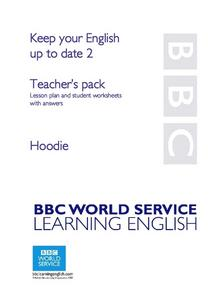 Keeping Your English Up to Date: Hoodie Lesson Plan