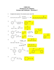 Ketones and Aldehydes-Reactions 1 Lesson Plan