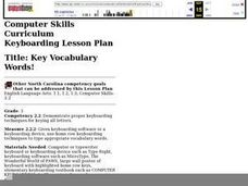 Key Vocabulary Words! Lesson Plan
