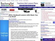 Keyboard centers with Music You Can Read Lesson Plan