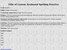 Keyboard Spelling Practice Lesson Plan