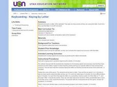 Keyboarding - Keying by Letter Lesson Plan