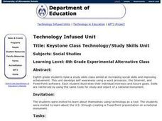 Keystone Class Technology/Study Skills Unit Lesson Plan