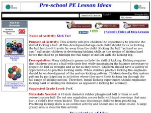 Kick Far Lesson Plan