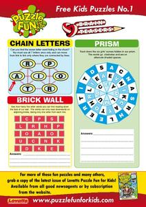 Kid Puzzles Worksheet