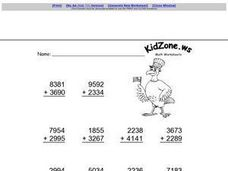 Kid Zone Addition 1 Worksheet