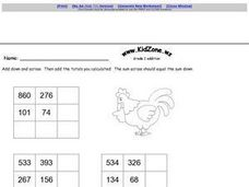 Kid Zone Grade 2 Addition A Worksheet