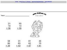 Kid Zone Grade 3 Addition II Worksheet