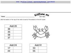 Kid Zone Math Tables 2 Worksheet