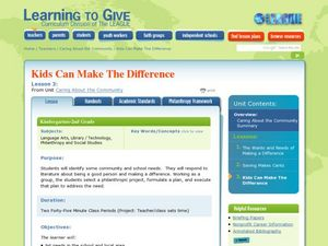 Kids Can Make a Difference Lesson Plan