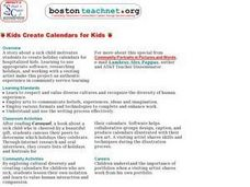 Kids Create Calendars for Kids Lesson Plan