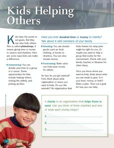 Kids Helping Others Worksheet