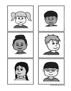 Kids Matching Game Black and White Worksheet