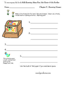 Kids Running: Have Fun, Get Faster and Go Farther Worksheet