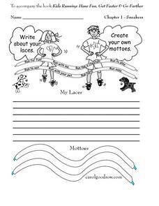 Kids Running: Have Fun, Get Faster and Go Farther: Writing Practice Worksheet