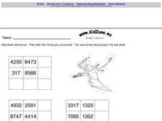 KidZone.ws Grade 3 Addition Worksheet