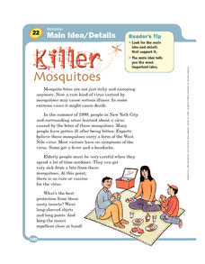 Killer Mosquitoes Worksheet